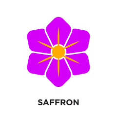 saffron logo isolated on white background , colorful vector icon, brand sign & symbol for your business