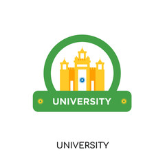 university logo isolated on white background , colorful vector icon, brand sign & symbol for your business