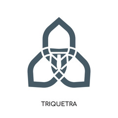 triquetra logo isolated on white background , colorful vector icon, brand sign & symbol for your business