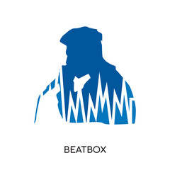 beatbox logo isolated on white background , colorful vector icon, brand sign & symbol for your business