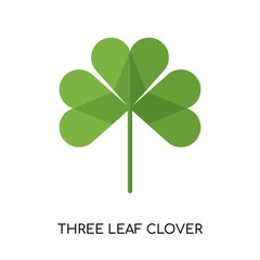 three leaf clover logo isolated on white background , colorful vector icon, brand sign & symbol for your business