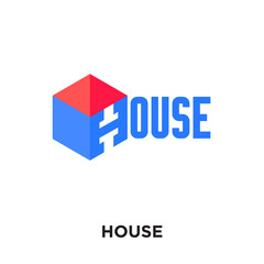 house logo design free isolated on white background , colorful vector icon, brand sign & symbol for your business
