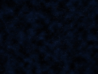 Dark blue night sky with bright stars and clouds