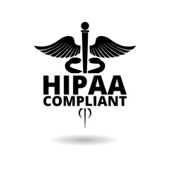 HIPAA - Health Insurance Portability and Accountability Act shadow, simple vector icon
