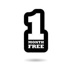 First month free sign icon, One month free, simple vector icon