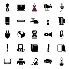 icons about Electronic with connection, energy, tool, grinder and cook