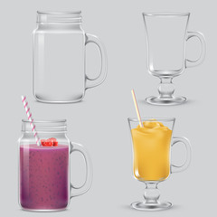 Drinks in glasses