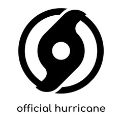official hurricane symbol isolated on white background , black vector sign and symbols