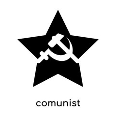 comunist symbol isolated on white background , black vector sign and symbols
