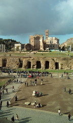 Temple of Venus and Roma; historic site; sky; archaeological site; tourist attraction