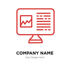 Computer company logo design template, colorful vector icon for your business, brand sign and symbol