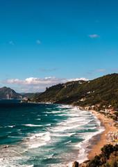 Ausblick auf den Strand von Agios Gordios auf Korfu