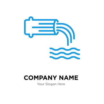 wastewater company logo design template, colorful vector icon for your business, brand sign and symbol