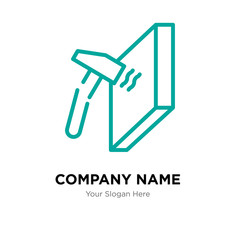 unbreakable company logo design template, colorful vector icon for your business, brand sign and symbol