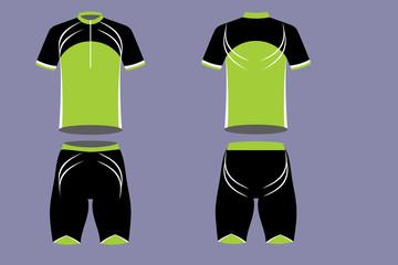 Cyclist sportswear 033, Green Sapling