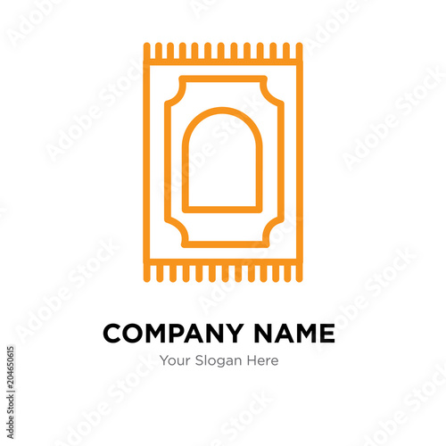 Praying Mat Company Logo Design Template Colorful Vector Icon For Your Business Brand Sign
