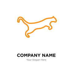 cougar company logo design template, colorful vector icon for your business, brand sign and symbol