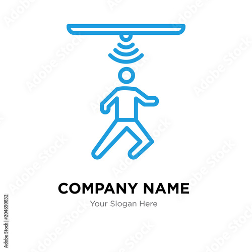 motion capture company logo design template, colorful vector icon