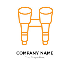 Binoculars company logo design template, colorful vector icon for your business, brand sign and symbol