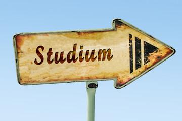 Schild 328 - Studium