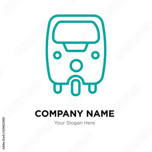 tuk tuk company logo design template colorful vector icon for your