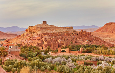 Kasbah Ait Ben Haddou in the Atlas Mountains of Morocco. UNESCO World Heritage Site since 1987.
