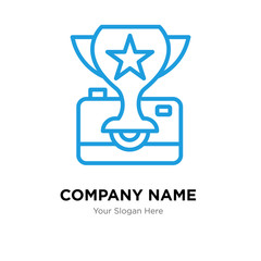 photo contest company logo design template, colorful vector icon for your business, brand sign and symbol