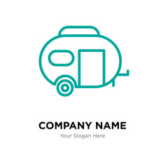 Caravan company logo design template, colorful vector icon for your business, brand sign and symbol