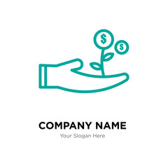 cost effective company logo design template, colorful vector icon for your business, brand sign and symbol