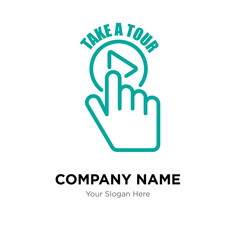 take a tour company logo design template, colorful vector icon for your business, brand sign and symbol