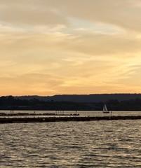 Beautiful image of an amazing sunset on a lake