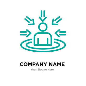 customer centricity company logo design template, colorful vector icon for your business, brand sign and symbol