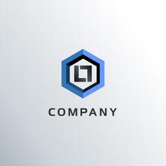Letter LL Hexagon Logo Concept