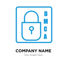 dmca company logo design template, colorful vector icon for your business, brand sign and symbol