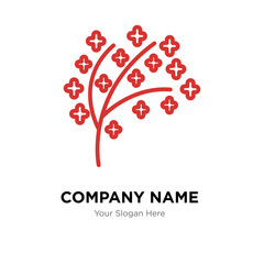 tree twigs with leaf company logo design template, colorful vector icon for your business, brand sign and symbol