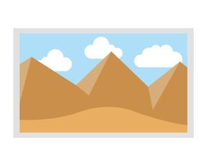 picture landscape work art icon vector illustration design