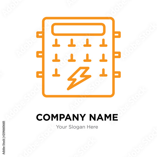 fuse box company logo design template, colorful vector icon for your  business, brand sign