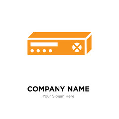 Printed company logo design template, colorful vector icon for your business, brand sign and symbol