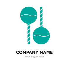 Maracas company logo design template, colorful vector icon for your business, brand sign and symbol