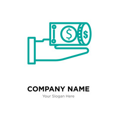 Money company logo design template, colorful vector icon for your business, brand sign and symbol