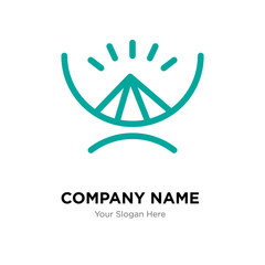 Gods omnipressence company logo design template, colorful vector icon for your business, brand sign and symbol