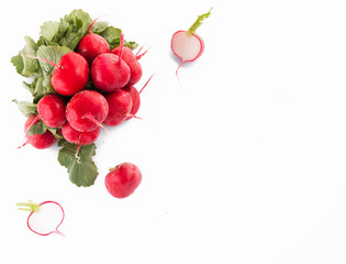 Radish on a white background