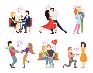 Boyfriend Girlfriend Rest Restaurant Dance Tango