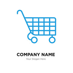 Cart company logo design template, colorful vector icon for your business, brand sign and symbol