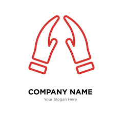 Prayer company logo design template, colorful vector icon for your business, brand sign and symbol