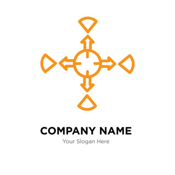 allocation company logo design template, colorful vector icon for your business, brand sign and symbol