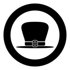 Hat leprechaun icon black color vector illustration simple image