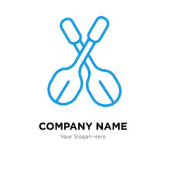 Paddles company logo design template, colorful vector icon for your business, brand sign and symbol