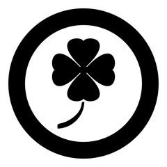 Clover icon black color vector illustration simple image