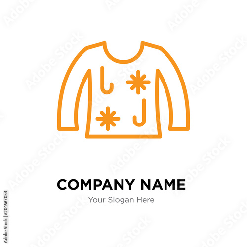 Ugly Christmas Sweater Company Logo Design Template Colorful Vector Icon For Your Business Brand
